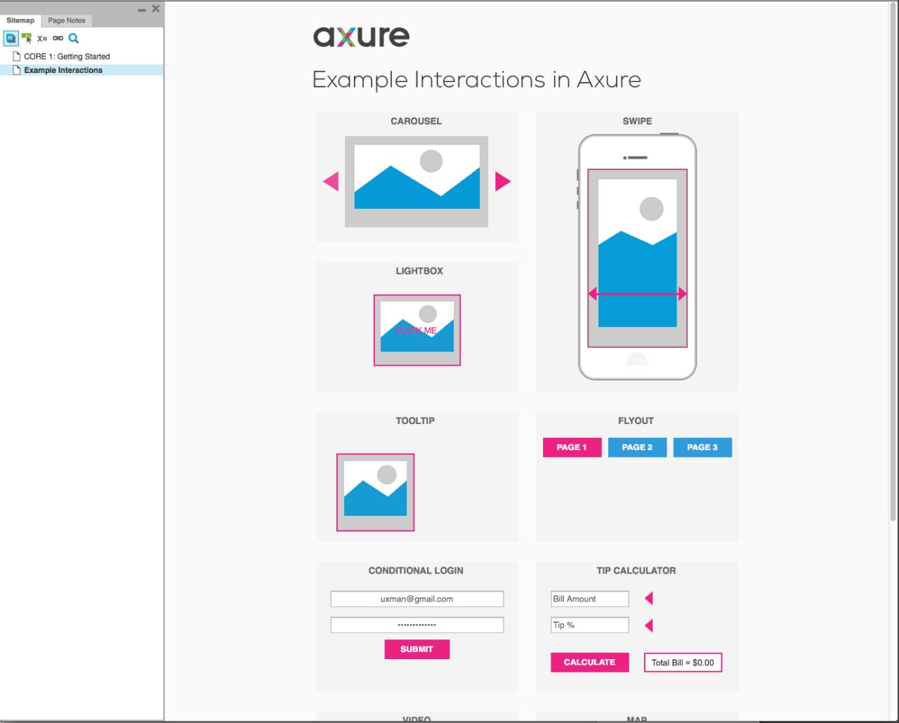 Screenshot of Axure 02