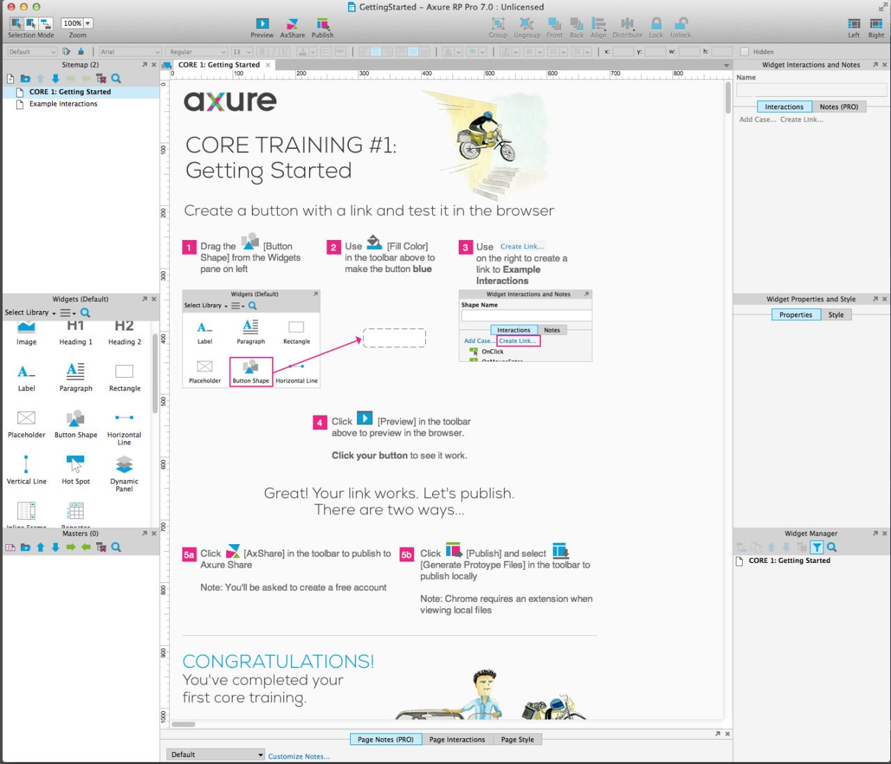 Screenshot of Axure 03