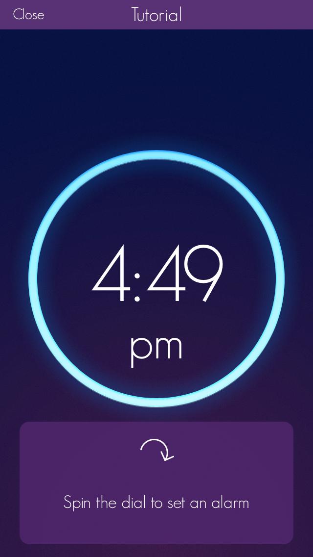 Still frame from Wake alarm app