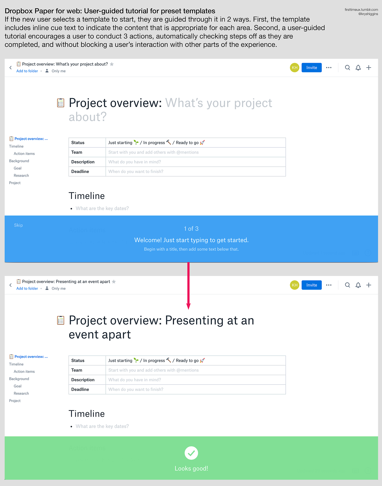 Dropbox Paper - first time introduction - screens 03