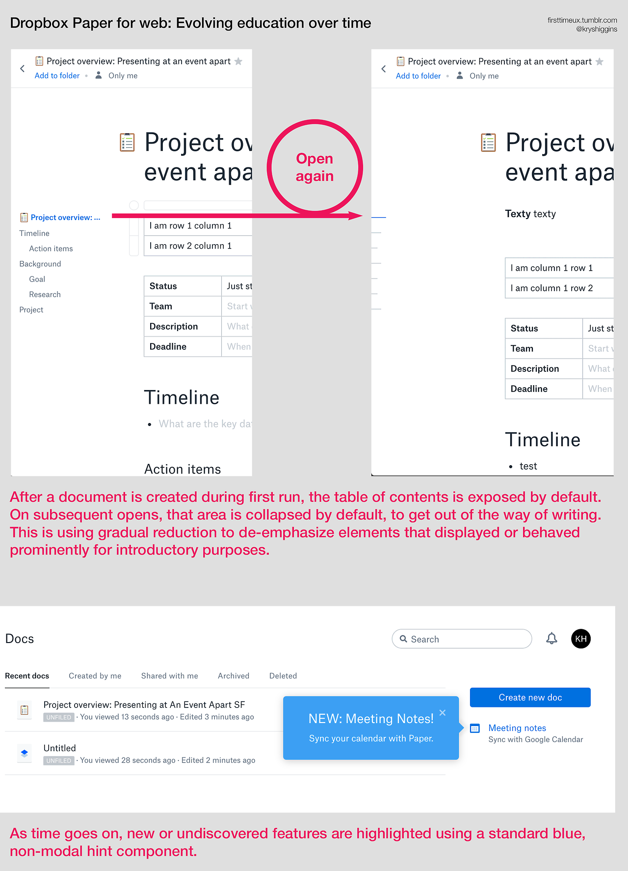 Dropbox Paper - first time introduction - screens 07