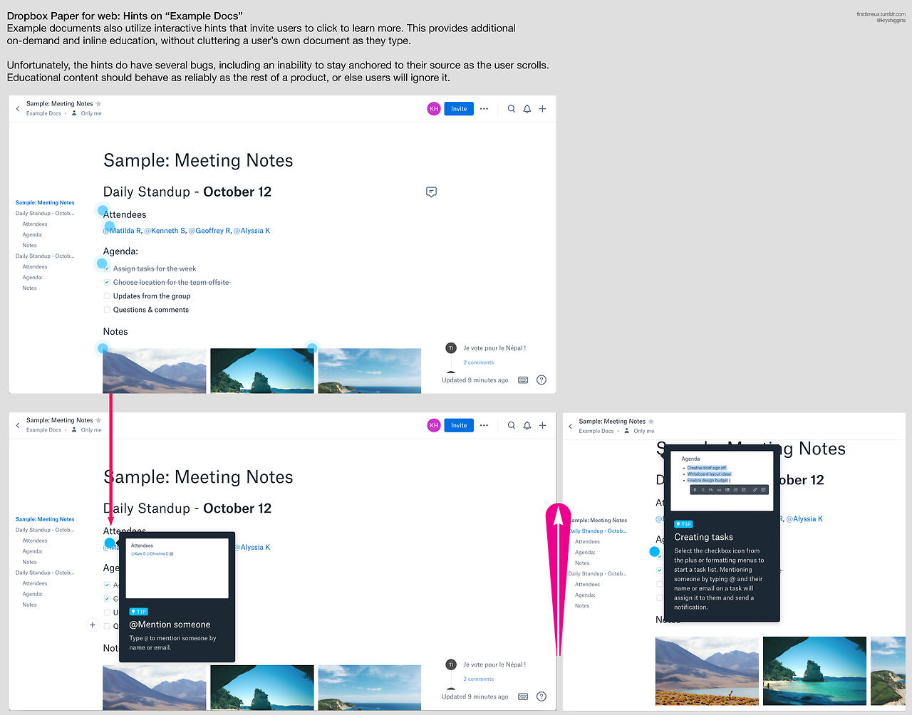 Dropbox Paper - first time introduction - screens 06