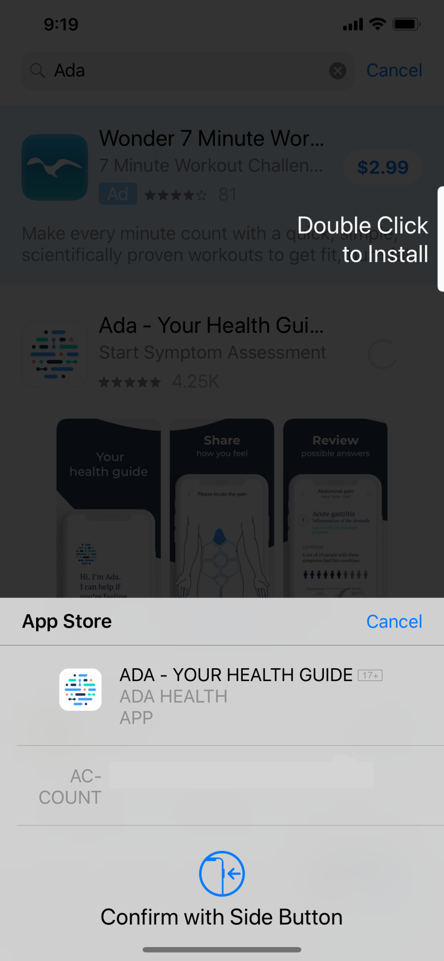 Screenshot of Apple App Store Confirm Purchase overlay
