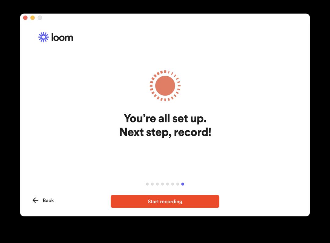 Screenshot of end of desktop app setup flow