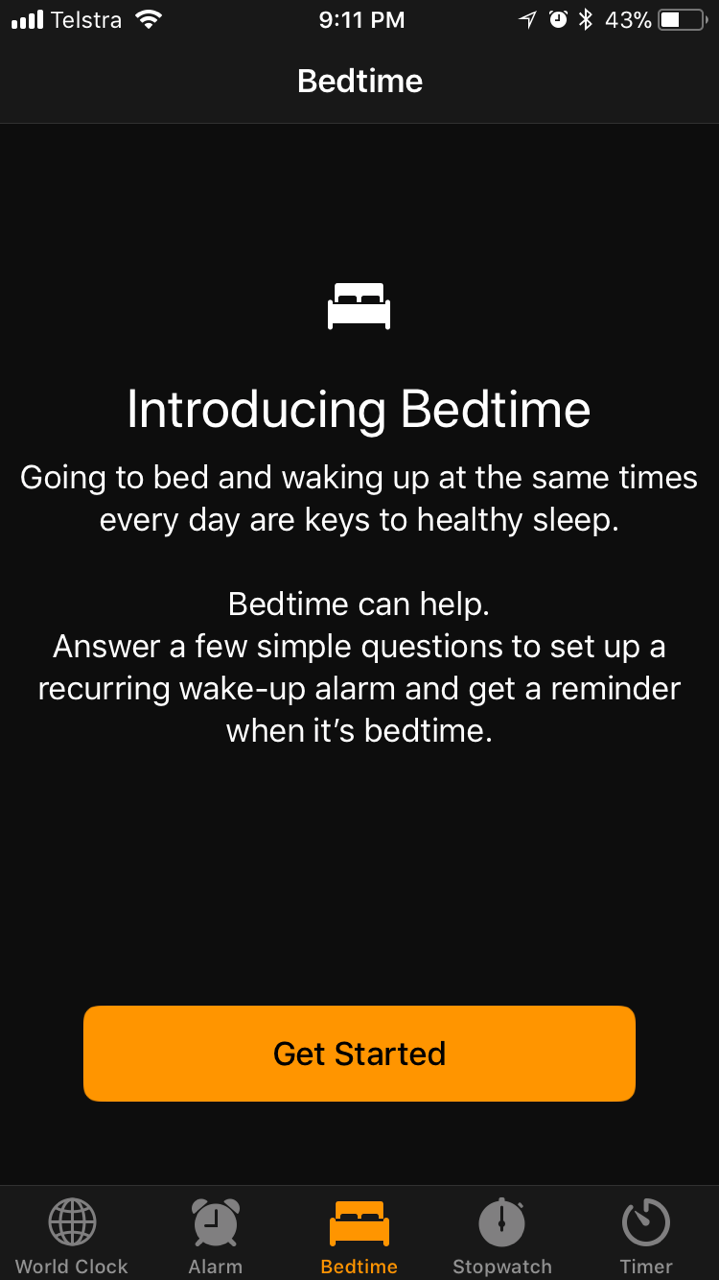 Bedtime new feature introduction - screenshot 01