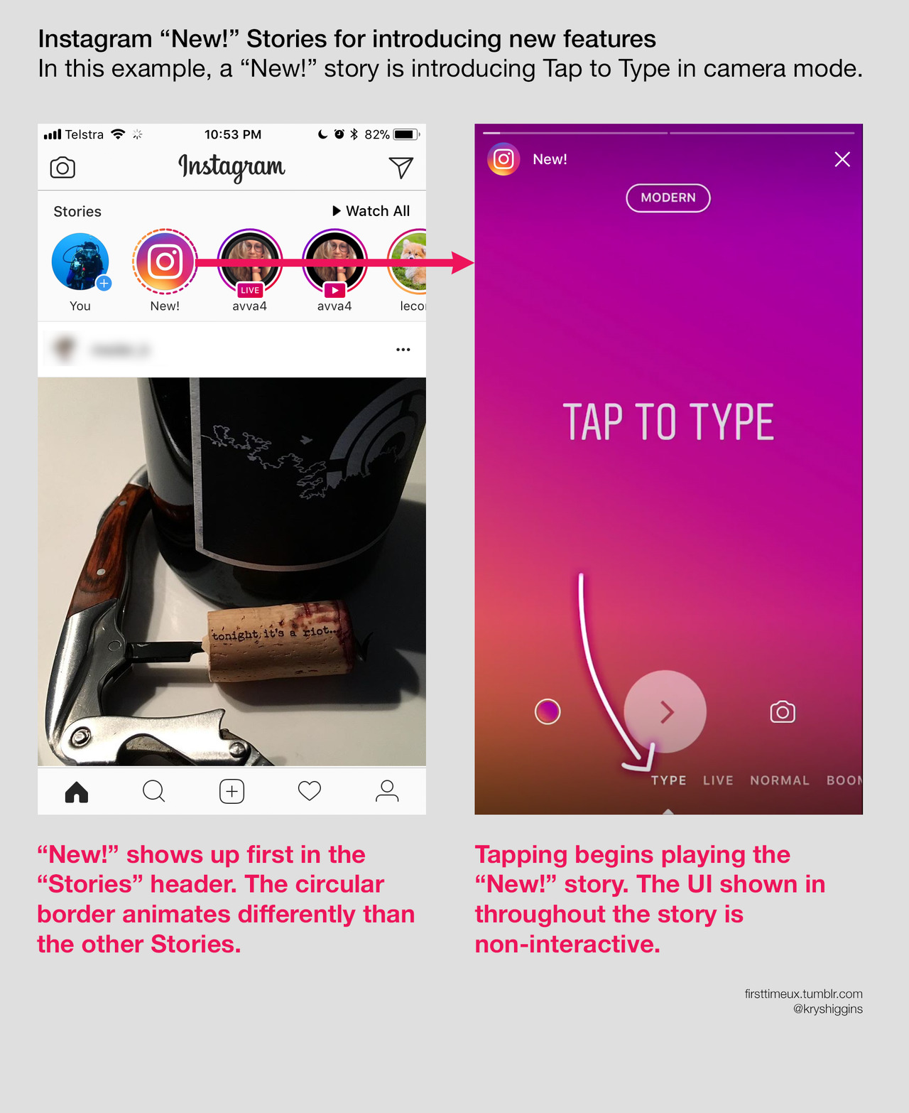 Instagram New Stories feature intro screens - 01